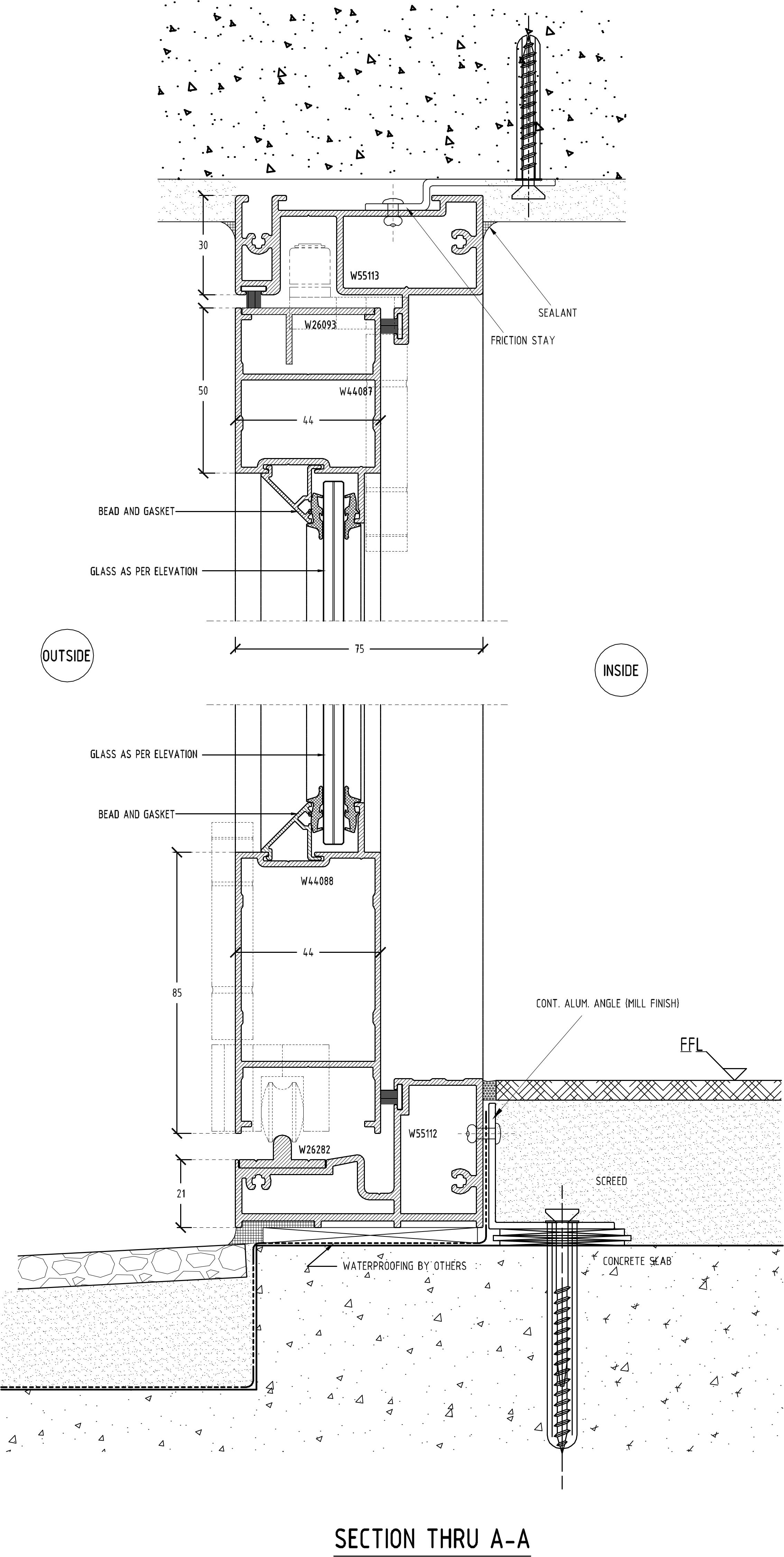 Vistafold Sliding Folding Door Section A A Eurostyle